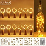 (12 Stück) Flaschenlicht Batterie, kolpop 2m 20 LED Glas Korken Licht Kupferdraht...