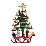 Tannenbaum beidseitig von Hand bemalt aus Zinn als Christbaumschmuck, Baumbehang,...