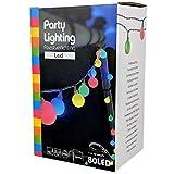 Party Lichterkette bunt 20m mit 80 LED Kugel Strombetrieben RGB IP44 für Balkon,...