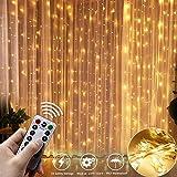 Lichtervorhang 300 LEDs Lichterketten Lichterkettenvorhang Warmweiß 3m*3m Innen und...