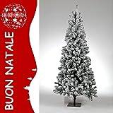 Weihnachtsbaum Typ Cortina Snow Tiroler Bergen cm.210Deko Weiß Schnee PU Tanne...