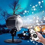 Schneeflocke Projektionslampe, Zenoplige LED Schneeflocke Projektor Lampe Licht...