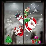 Minleer Weihnachten Fenster Aufkleber, Weihnachten Dekorative Sticker, 4 Stück mit...