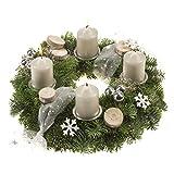 Advents-Kranz 'Silberglanz' Adventskranz, Silber, 30 x 30 x 20 cm