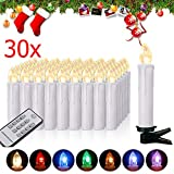 Miafamily RGB LED Kerzen Kabellose Baumkerzen Weihnachtskerzen mit Infrarot...