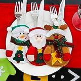 Besteckhalter Weihnachten Hirolan Weihnachtliche Tischdeko 3 Stück Weihnachten...