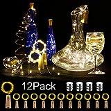 12 Stück LED Flaschenlicht, BIG HOUSE 20 LEDs 2M Lichterkette Kupferdraht...