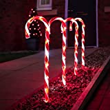 Festive Lights - 4er Set - beleuchtete Zuckerstangen Dekoration - 40 LEDs -...