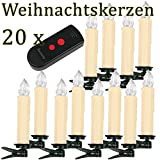 10/ 20/ 30/ 40 er Weinachten LED Kerzen Lichterkette Kerzen Weihnachtskerzen...