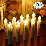 Samoleus 10 Stück Weihnachtskerzen Lichterkette, Weihnachts Kerzen Kabellos mit...