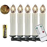 VINGO 50 Set LED Weihnachtskerzen mit Fernbedienung kabellos LED Kerzen mit Batterien...