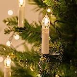 50er LED Weihnachtsbaum Lichterkette Kerzenlichterkette creme Innen