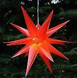 Guru-Shop 3D Außenstern, Weihnachtsstern, Faltstern Kaspar Rot mit LED, Ø Ca.55 cm,...