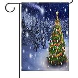 Unbekannt XG Weihnachtsbaum Seasonal Garten Flagge für Outdoor, Winter Welcome...