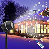 LED Projektor, Fenvella Schneeflocken Projektor Lampe mit Timing Fernbedienung...