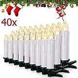Miafamily 20-60er Weinachten LED Kerzen Weihnachtsbeleuchtung Lichterkette Kerzen...