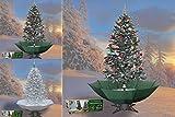 Schneiender Weihnachtsbaum 200cm Schneefall Tannenbaum künstlicher Schnee (Grün)