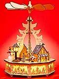Sikora P33 LED Holz Weihnachtspyramide mit elektrischem Antrieb und Beleuchtung,...
