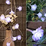 Gaddrt Lichterketten für Innenräume LED-Licht Rose Flower Garland String Light...
