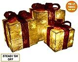 Weihnachtsschmuck leuchten Weihnachtspakete Ornamente Weihnachtsgeschenk Set von 3...