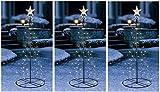 3 x 120cm LED Weihnachtsbaum Fahnenmast Lichterkette Lichterschlauch Weihnachten