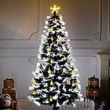 DLPY Pre-Bett Künstlicher Weihnachtsbaum,scharnier Optische Faser 8 Flash-modi Mit...