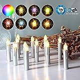 CCLIFE 20/30/40er LED Kerzen RGB Bunt Weihnachtsbaumkerzen weihnachtskerzen...