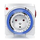 Mechanische Zeitschaltuhr | 24 Stunden Anaolg Timer | Steckdosen-Schaltuhr |...