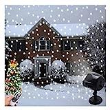 Weihnachten Schnee Projektor Lichter Indoor Outdoor Halloween Dekoration LED Schnee...