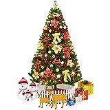 TOPYL 210cm Künstlicher Weihnachtsbaum Pre-beleuchtet Optische Faser Xmastree In...