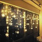 LED Lichtervorhang Lichter, LED Lichterkette, Weihnachtsbeleuchtung, 93er LED...