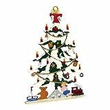 Zinngeschenke Tannenbaum mit Schnee stehend beidseitig von Hand bemalt aus Zinn,...