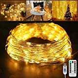 Pomisty 20M Led Lichterkette,200er USB Lichterkette mit Fernbedienung,8 Modi...