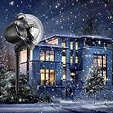 LED Schneeflocke Projektor Licht Wasserdicht Weihnachten Schneefall Projektor...