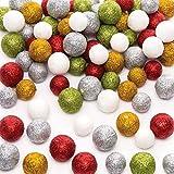 Baker Ross Polystyrol-Glitzerkugeln (60 g pro Packung) für Kinder, Weihnachtsbasteln...