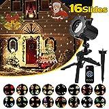 Qomolo LED Projektionslampe Weihnachten Projektor Lampe Kinder Wandbeleuchtung Garten...