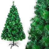OZAVO Künstlicher Weihnachtsbaum Nadel PVC Christbaum Grün mit Metallständer,...