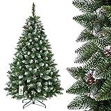 FairyTrees Weihnachtsbaum künstlich Kiefer, Natur-Weiss beschneit, Material PVC,...