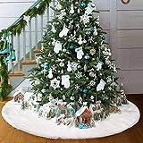 AMADE Weihnachtsbaum Röcke Plüsch Weihnachtsschmuck Kunstfell Weiß Plüsch...