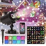 LED Projektor Lampe Weihnachten Projektor 16 Folien RGBW Wasserwellen-Welleneffekt...