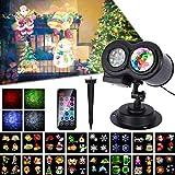 LED Projektor Weihnachten Lampe, 16 Folien, ALED LIGHT Wasserwelle&Gobos Licht...