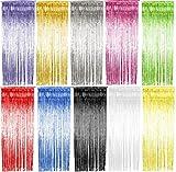 Foxxeo 35011 | Lametta Vorhang 91x244 cm, verschiedene Farben, Farbe:Pink