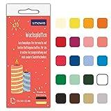 Smowo® 20 Wachsplatten zum gestalten, dekorieren und verzieren von Kerzen -...