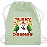 Shirtracer Weihnachten Kind - Merry Dogmas - Pixel art - bunt - Unisize - Pastell...