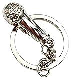 1 stücke Metall Schlüsselanhänger Mikrofon Form Keychain Neuheit...