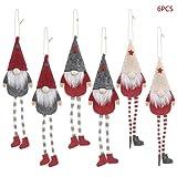 FangWWW 6pcs Weihnachten Lange-Bein Schwedischen Gnom Santa Doll Ornamente Hängenden...