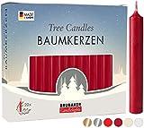 Brubaker 20er Pack Baumkerzen Wachs - Weihnachtskerzen Pyramidenkerzen...