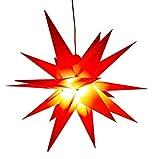 Led Weihnachtsstern Rot, Adventsstern, für Außen, Kunststoff Ø 55 cm Mit LED Lampe...