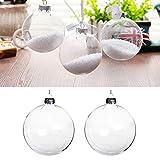 Warmiehomy 5 x Christbaumkugeln aus klarem Glas befüllbare Ornamente für...