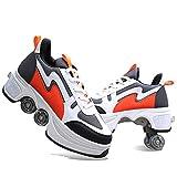 ZHKXBG Rollschuhe, Quad-Rollschuhe für Kinder für Erwachsene, Unisex-Schuhe mit...